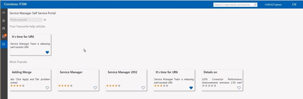 Service Manager Portal knowledge base