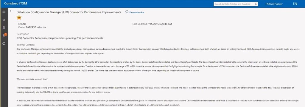 Service Manager Portal knowledge base rtftohtml