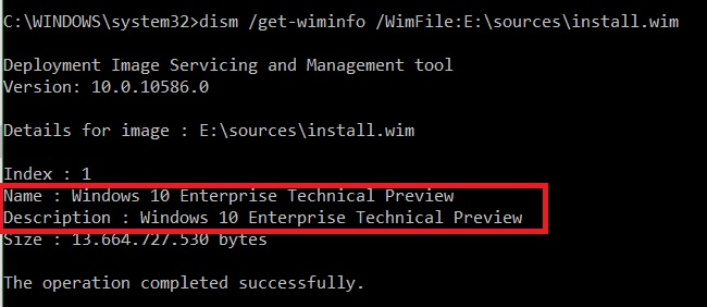 Windows 10 - WIM Fehler