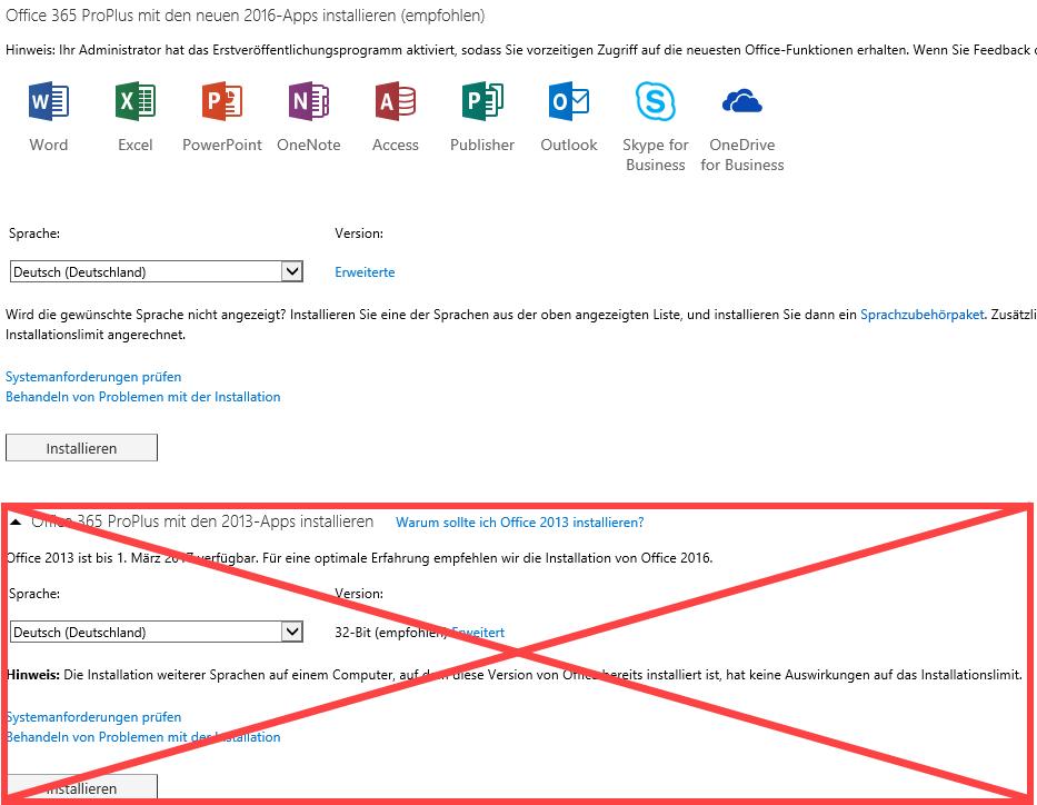 Office 365 ProPlus Installation