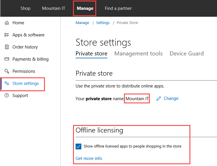Integration of Windows Store for Business in ConfigMgr