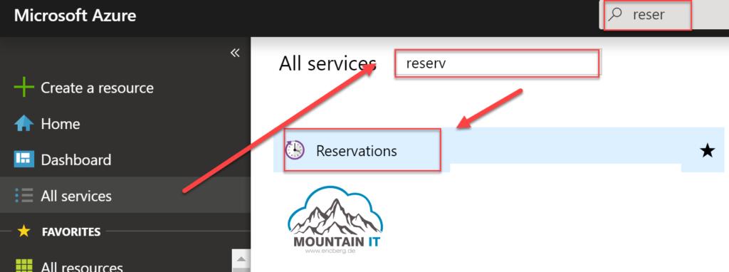 Azure Reservations im Azure Portal