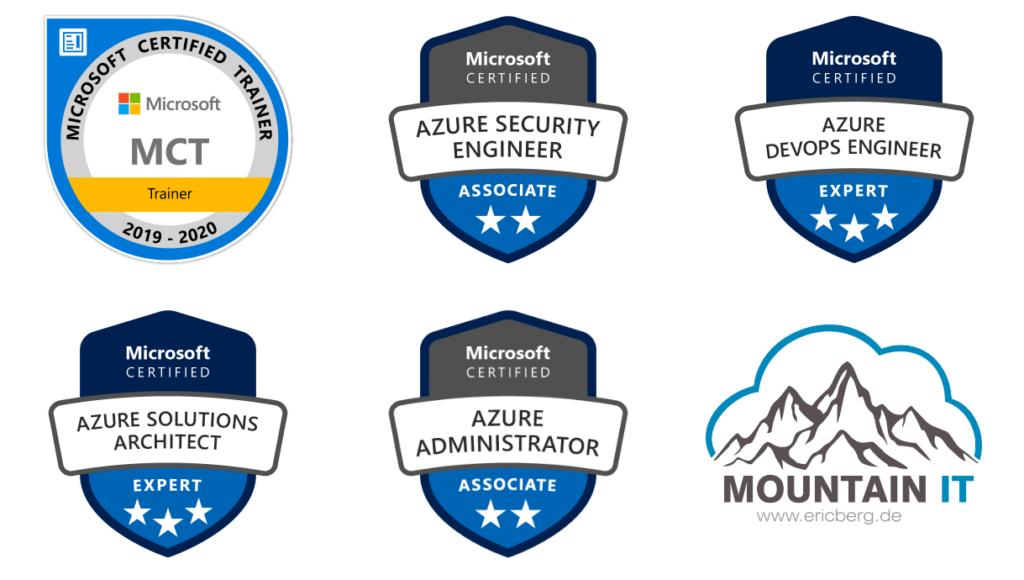 Azure Certifications of Eric Berg
