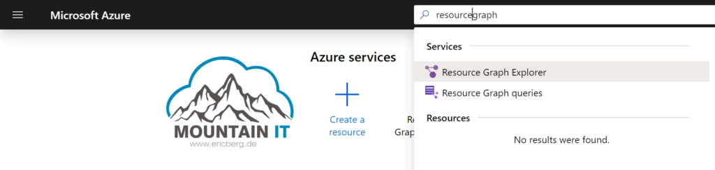 Azure Resource Graph in Portal